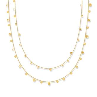 Lily Flo Jewellery - Stardust Scattered Stars Solid Gold Double Layered Necklace