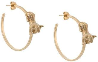 Azlee Anubis diamond hoops
