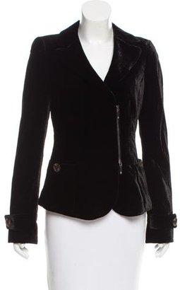 Giorgio Armani Velvet Notch-Lapel Blazer $150 thestylecure.com