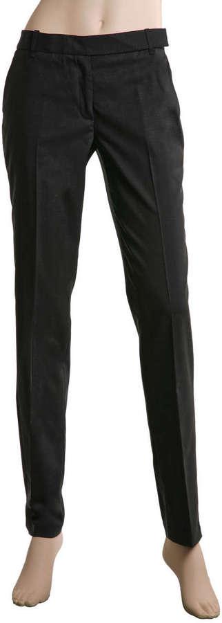 Solid Wool Stretch Slim Leg Pant