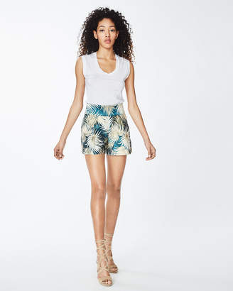 Nicole Miller Palm Leaf Shorts