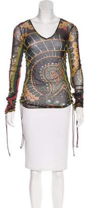 Gianfranco Ferre GF Printed Long Sleeve Top