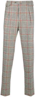 Pt01 checked straight-leg trousers