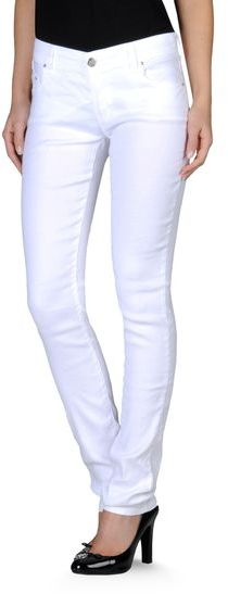 Armani Jeans Skinny Jeans In Stretch Viscose Linen