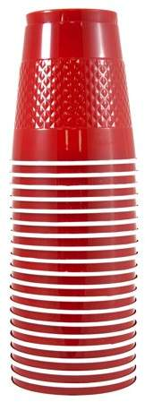 JAM Paper Bulk Plastic Cups, 12 oz, Red, 200 Cups/Box