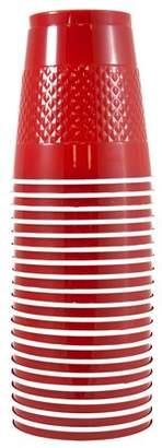 JAM Paper Plastic Cups, 12 oz, Red, 20/pack