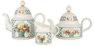 Villeroy & Boch 3-Piece Basket Coffee & Tea Service