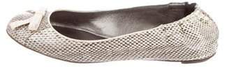 Dolce & Gabbana Embossed Leather Ballet Flats multicolor Embossed Leather Ballet Flats