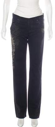 Ralph Lauren Low-Rise Embroidered Jeans