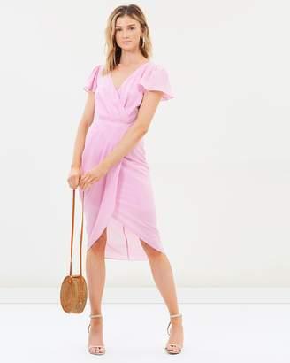Cooper St Honey Short Sleeve Drape Dress