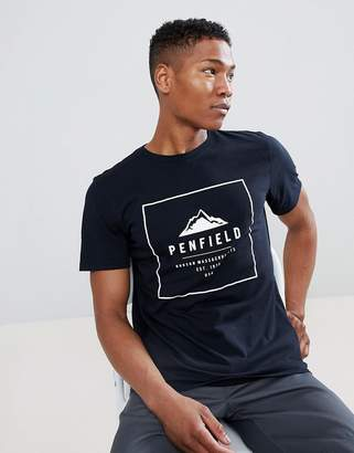 Penfield Alcala Box Logo T-Shirt in Black