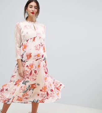 Mama Licious Mama.licious Mamalicious Floral Occasion Midi Dress