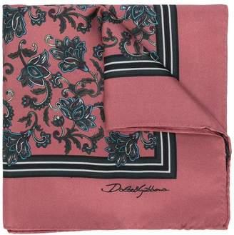 Dolce & Gabbana floral pocket square