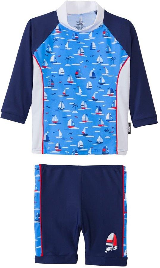Platypus Australia Platypus Boys' UPF 50+ Regatta L/S Baby Rash Guard Set (624 months) - 8140825