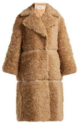 Vika Gazinskaya Faux Fur Alpaca Blend Coat - Womens - Camel