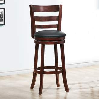 Homevance HomeVance Atalya 29-in. Faux Leather Swivel Bar Stool