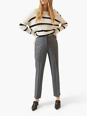 Jigsaw Flannel Trousers, Mid Grey