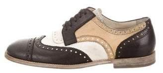Dolce & Gabbana Brogue Leather Oxfords