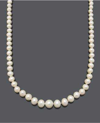 """Belle de Mer Pearl Necklace, 18"""" 14k Gold Aa Cultured Freshwater Pearl Graduated Strand (6-9.5mm)"""