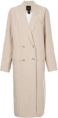 Smythe double-breasted fitted coat