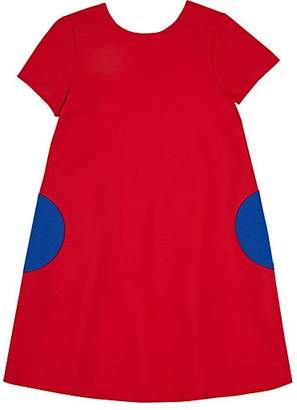 Lisa Perry Kids' Ponte-Knit Shift Dress - Red