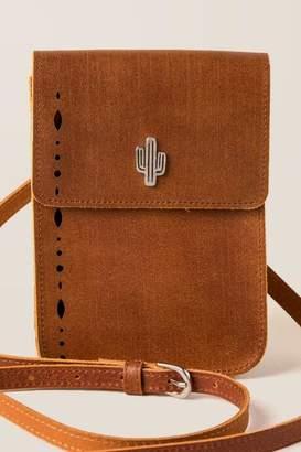 francesca's Kiara Leather Cactus Crossbody - Cognac