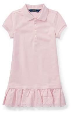Ralph Lauren Little Girl's Eyelet Polo Dress