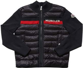 Moncler Cotton Knit & Down Padded Jacket