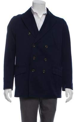 Reiss Double-Breasted Twill Coat