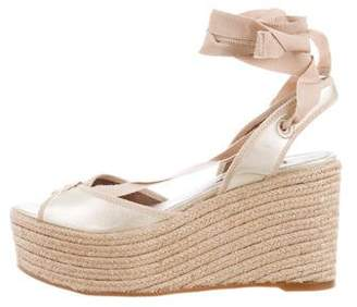 Tabitha Simmons Lace-Up Espadrille Wedges