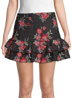 Lovers + Friends Women's Ellie Floral Mini Skirt