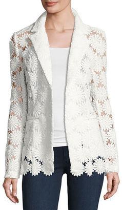 Berek Semisheer Daisy Lace Blazer, Plus Size $238 thestylecure.com
