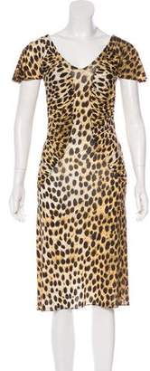 Just Cavalli Short Sleeve Midi Dress