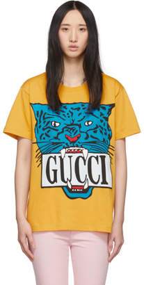 Gucci Yellow Jaguar T-Shirt