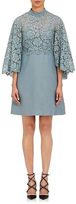 Valentino Women's Lace-Cape Shift Dress