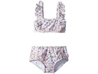 Seafolly Summer Wallflower Mini Tube Bikini Set (Toddler/Little Kids)