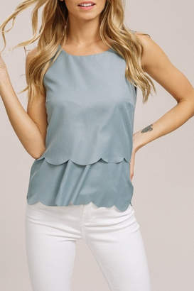 Listicle Scallop Summer top