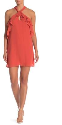 BCBGeneration Keyhole Ruffle Shift Dress