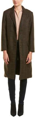 ASTR the Label Plaid Wool-Blend Coat