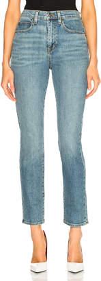 Proenza Schouler Pswl High Rise Slim Fit Jeans