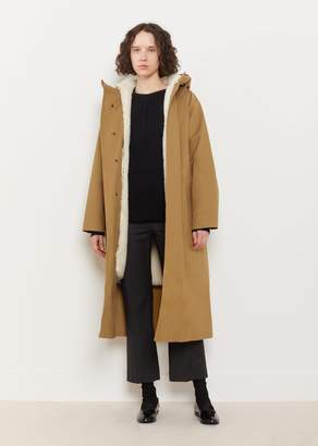 MACKINTOSH Hooded Removable Lamb Fur Lined Coat Autumn