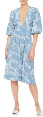 Faithfull The Brand Chloe Floral Print Midi Dress