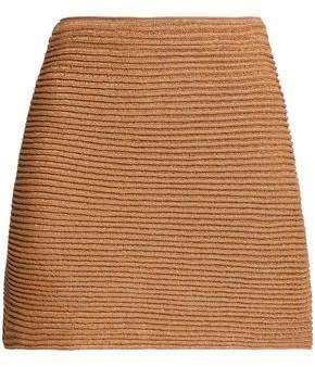 Missoni Metallic Ribbed Crochet-Knit Mini Skirt