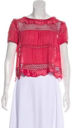 Isabel Marant Ruffle-Accented Crocheted Top