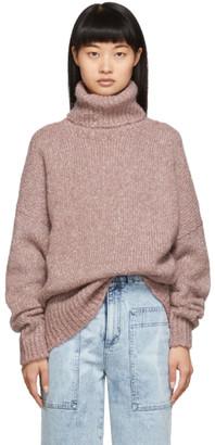 Etoile Isabel Marant Red Tweedy Knit Shadow Turtleneck