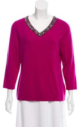 Magaschoni Embellished Cashmere Sweater