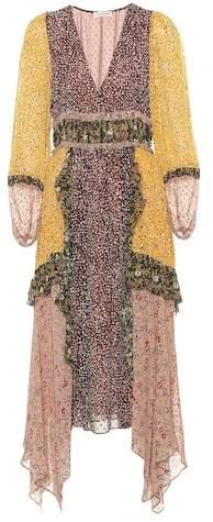 Primrose silk georgette dress