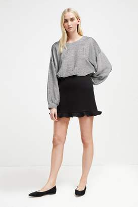 French Connenction Sundae Suiting Frill Mini Skirt