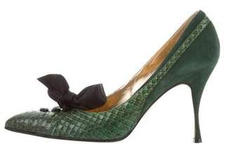 Dolce & Gabbana Python Bow Pumps