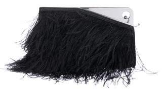 Alexander McQueen Leather & Feather Clutch